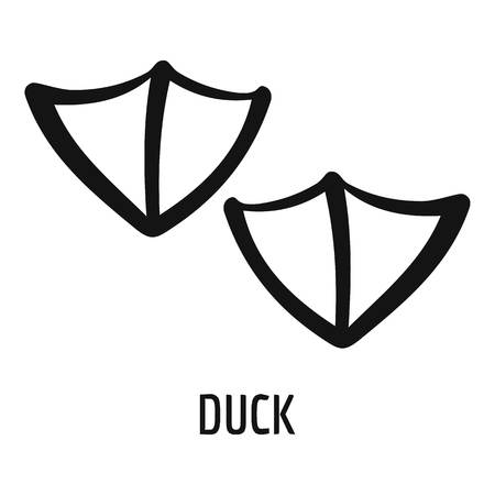 Duck step icon. Simple illustration of duck step vector icon for web Illustration