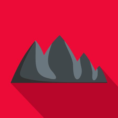 Rock climbing icon. Flat illustration of rock climbing vector icon for web Banco de Imagens - 91745113