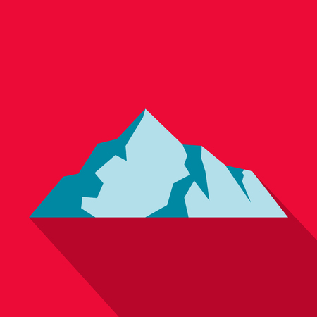 Ice mountain icon. Flat illustration of ice mountain vector icon for web