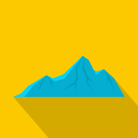 Tall mountain icon. Flat illustration of tall mountain vector icon for web