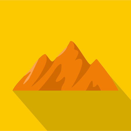 Top of mountain icon. Flat illustration of top of mountain vector icon for web Illustration