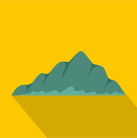 Mountain landscape icon. Flat illustration of mountain landscape vector icon for web Ilustração