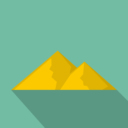 Mountain for extremal icon. Flat illustration of mountain for extremal vector icon for web Banco de Imagens - 91745495
