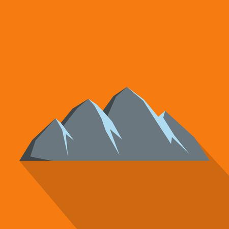 Large mountain icon. Flat illustration of large mountain vector icon for web Illustration