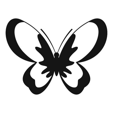 Unknown butterfly icon. Simple illustration of unknown butterfly vector icon for web Illustration