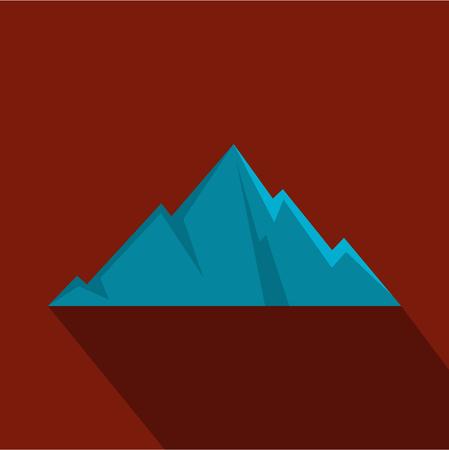 Pointing mountain icon. Flat illustration of pointing mountain vector icon for web Illustration