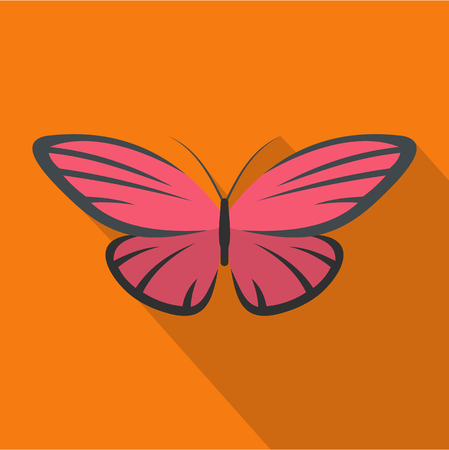 Nice butterfly icon. Flat illustration of nice butterfly vector icon for web Illustration