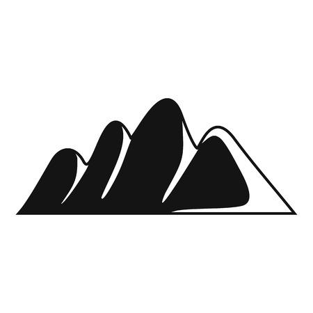 Europe mountain icon. Simple illustration of europe mountain vector icon for web Banco de Imagens - 91745868