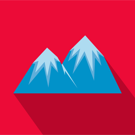 Flat illustration of snow peak icon for web.
