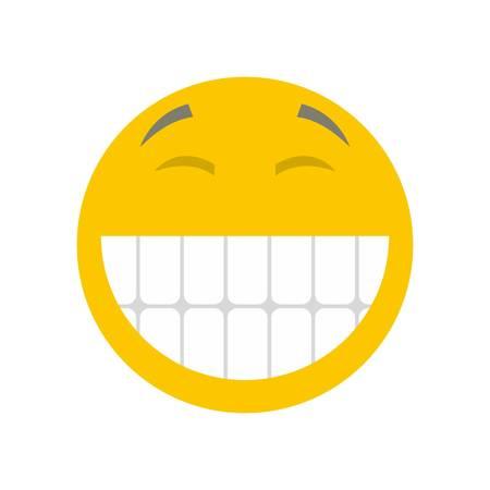 Smile icon. Vector flat illustration of smile icon isolated on white background Illustration