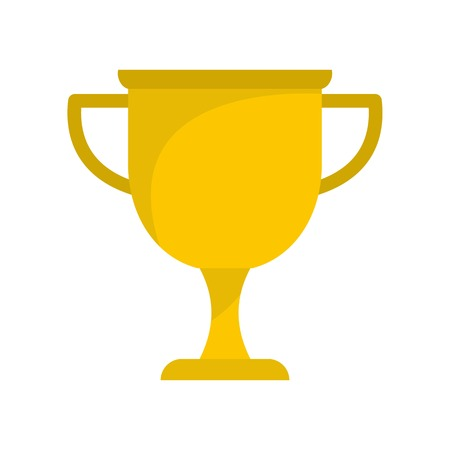 Cup award icon. Flat illustration of cup award vector icon isolated on white background Illustration