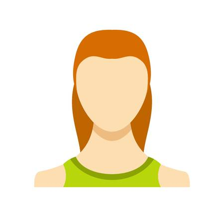 Woman user icon. Flat illustration of woman user vector icon isolated on white background