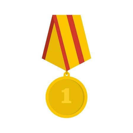 Medal icon. Flat illustration of medal vector icon isolated on white background