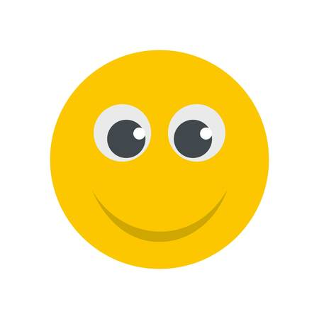 Smile icon. Vector flat illustration of smile icon isolated on white background Illusztráció