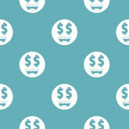 Money smile icon. Vector simple illustration of money smile icon isolated on white background 向量圖像
