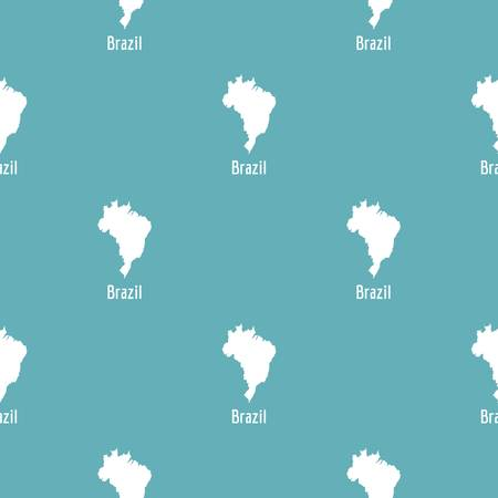 Brazil map in black. Simple illustration of Brazil map vector isolated on white background Stock Photo