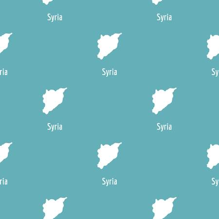 Syria map in black. Simple illustration of Syria map vector isolated on white background Banco de Imagens