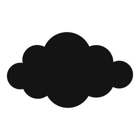 Cloud in sky icon. Simple illustration of cloud in sky vector icon for web