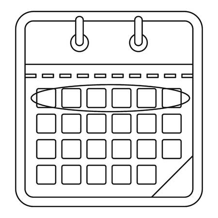 Drawing calendar icon. Outline illustration of drawing calendar vector icon for web. Illustration