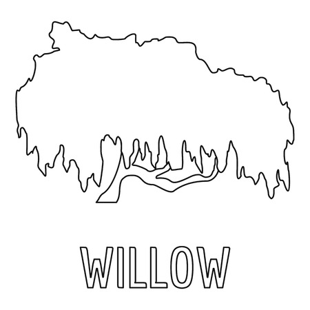Willow icon. Outline illustration of willow vector icon for web.