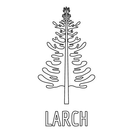 Larch  tree  icon. Outline illustration of larch vector icon for web.