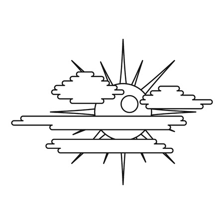 Overcast icon. Outline illustration of overcast vector icon for web.