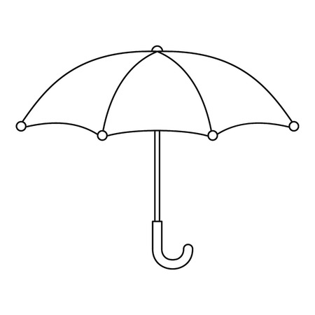 Umbrella icon. Outline illustration of umbrella vector icon for web.