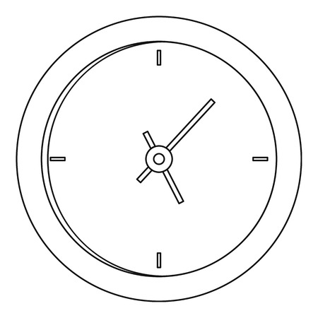 Hanging clock icon. Outline illustration of hanging clock vector icon for web.