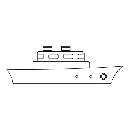 Longboat icon. Outline illustration of longboat vector icon for web. Vectores