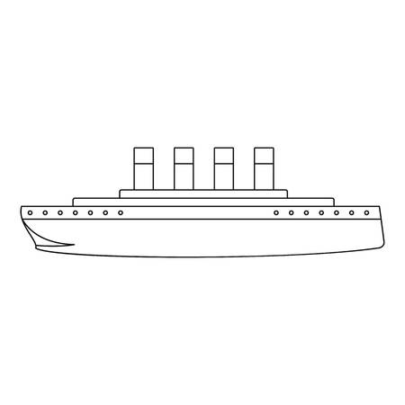 Titanic icon. Outline illustration of titanic vector icon for web.