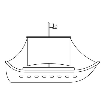 Vessel icon. Outline illustration of vessel vector icon for web.