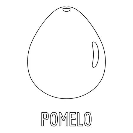 Pomelo icon. Outline illustration of pomelo vector icon for web Çizim