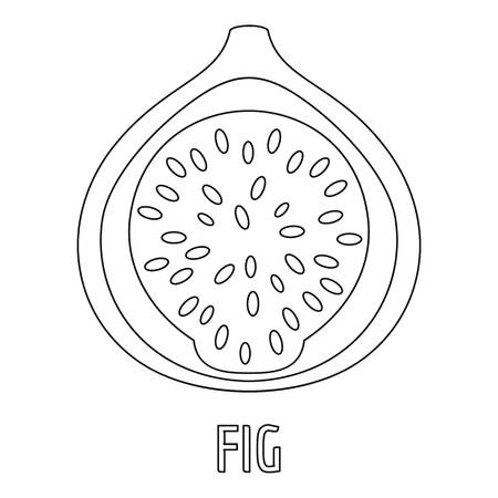 Fig icon. Outline illustration of fig vector icon for web