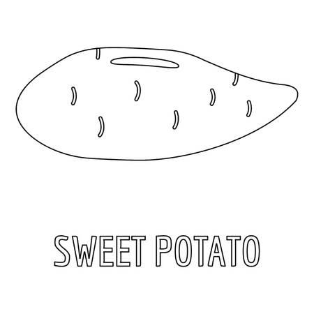 Sweet potato icon. Outline illustration of sweet potato vector icon for web Illustration