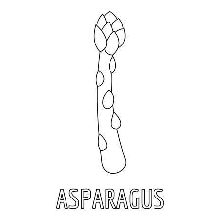 Asparagus icon. Outline illustration of asparagus vector icon for web Çizim