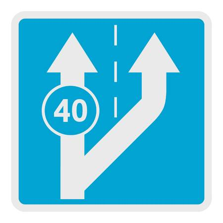 Forty on arrow icon. Flat illustration of forty on arrow vector icon for web.