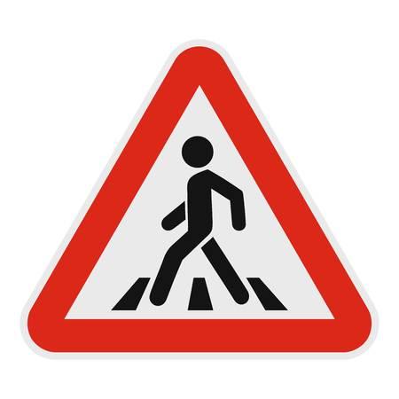 Crosswalk icon. Flat illustration of crosswalk vector icon for web. Illustration