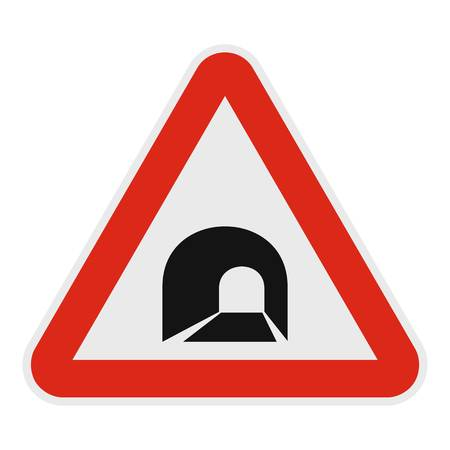 Tunnel icon. Flat illustration of tunnel vector icon for web.