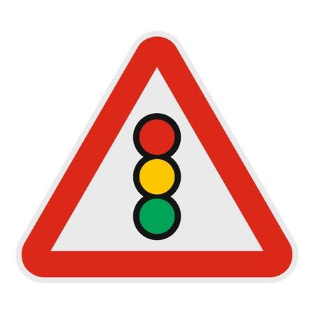 Traffic light icon. Flat illustration of traffic light vector icon for web. Illustration