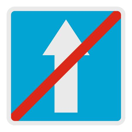 End of road icon. Flat illustration of end of road vector icon for web. Vettoriali