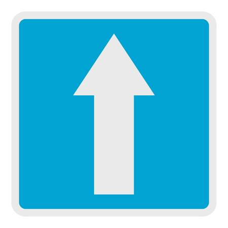 Forward arrow icon. Flat illustration of forward arrow vector icon for web. Çizim