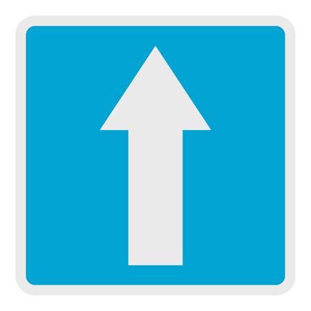 Forward arrow icon. Flat illustration of forward arrow vector icon for web. Ilustração