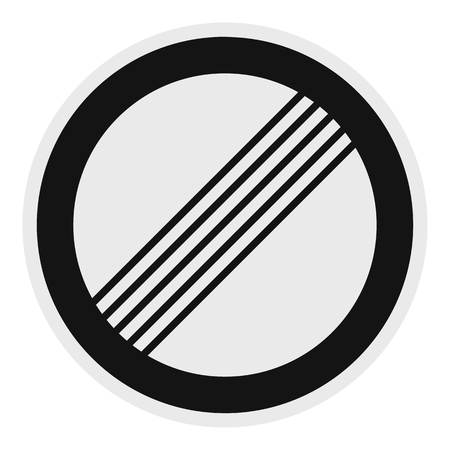End of all restriction icon. Flat illustration of end of all restriction vector icon for web.