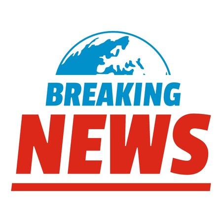 Aankondiging van het laatste nieuwspictogram. Vlakke afbeelding van aankondiging van het breken van nieuws ector pictogram voor web.