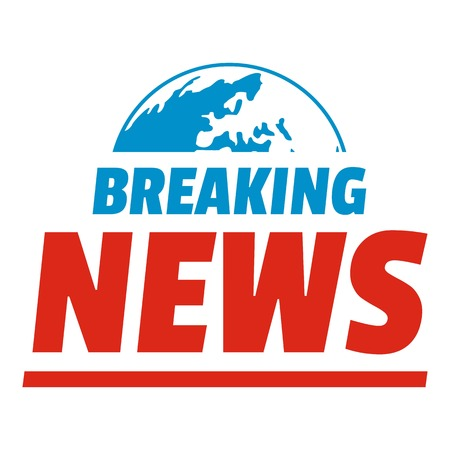 Announcement of breaking news icon. Flat illustration of anouncement of breaking news ector icon for web.