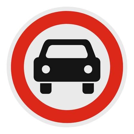 No mechanical vehicle icon. Flat illustration of no mechanical vehicle vector icon for web.