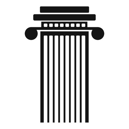Cylindrical column icon. Simple illustration of cylindrical column vector icon for web. Иллюстрация
