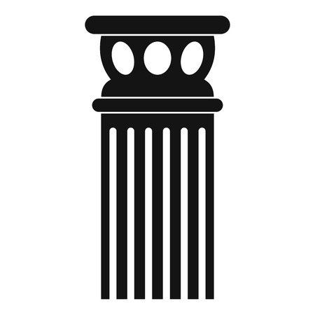 Ancient column icon. Simple illustration of ancient column vector icon for web.