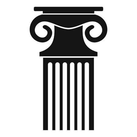 Decorative column icon. Simple illustration of decorative column vector icon for web. Иллюстрация