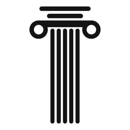Square column icon. Simple illustration of square column vector icon for web.